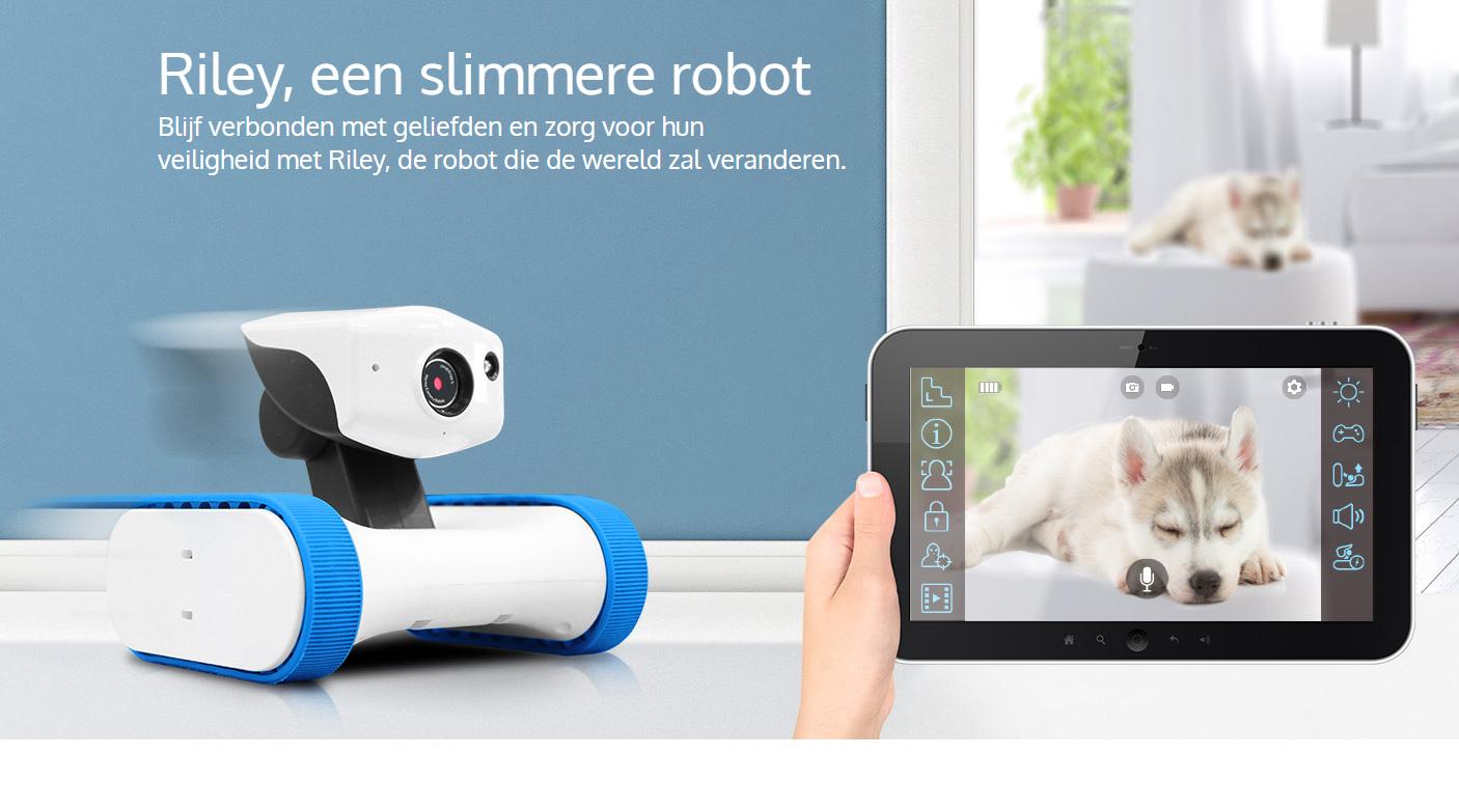 Nieuw bij IPcamera webwinkel, Riley een slimmere robot!